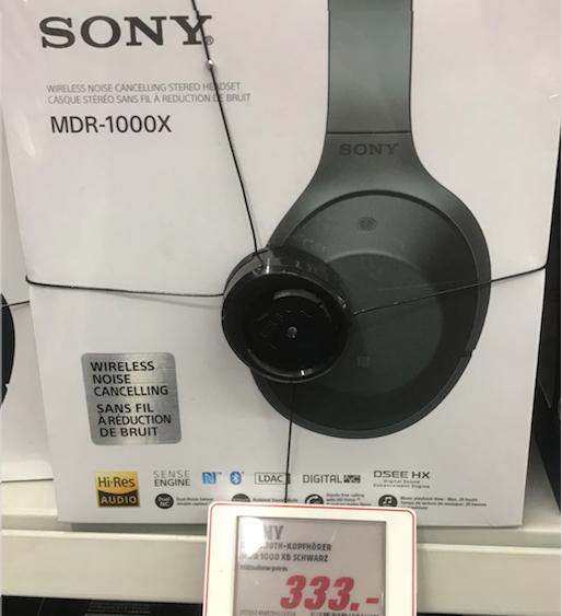 [Media Mart Berlin] SONY MDR-1000X Schwarz & Beige