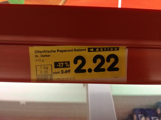 Die Ofenfrische - versch. Sorten -17% - 2.22€