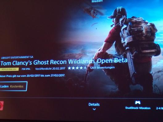 Tom Clancy's Ghost Recon Wildlands Open Beta für PS+ Besitzer