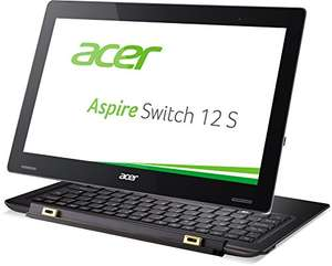 [amazon] Acer Aspire Switch 12 S (SW7-272) 31,7 cm (12,5 Zoll Full HD IPS) Convertible Notebook (Intel Core m5-6Y54, 8GB RAM, 256GB SSD, Intel HD Graphics 515, Win 10 Home, USB 3.1) schwarz für 749€ statt 918€