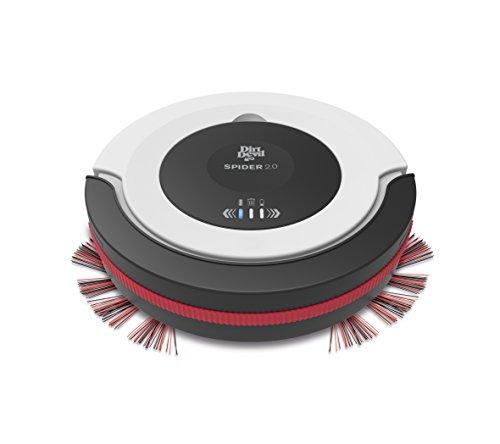 [Mediamarkt / Amazon / Saturn] Dirt Devil M612 Spider 2,0 Saugroboter, lange Laufzeit: 90 min, 3 Reinigungsprogramme, Extra flach 7 cm, geringes Gewicht 1,5 kg, weiß / schwarz / rot