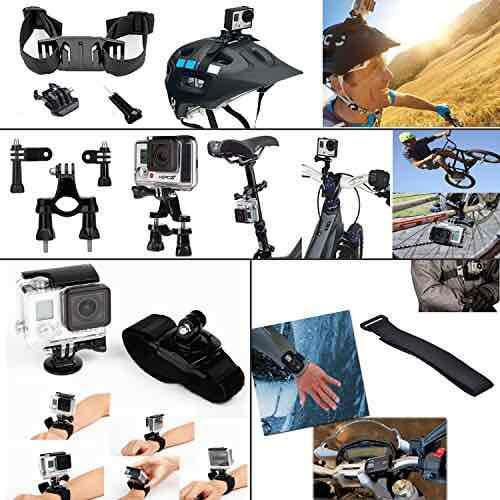 [amazon] Leknes Basis Zubehör Bundle Set für Action Kamera sj4000 sj5000 und GOPRO HERO 4 3+ 3 2 1