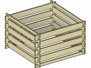 [Offline Obi] Komposter aus Holz (100x100x60)
