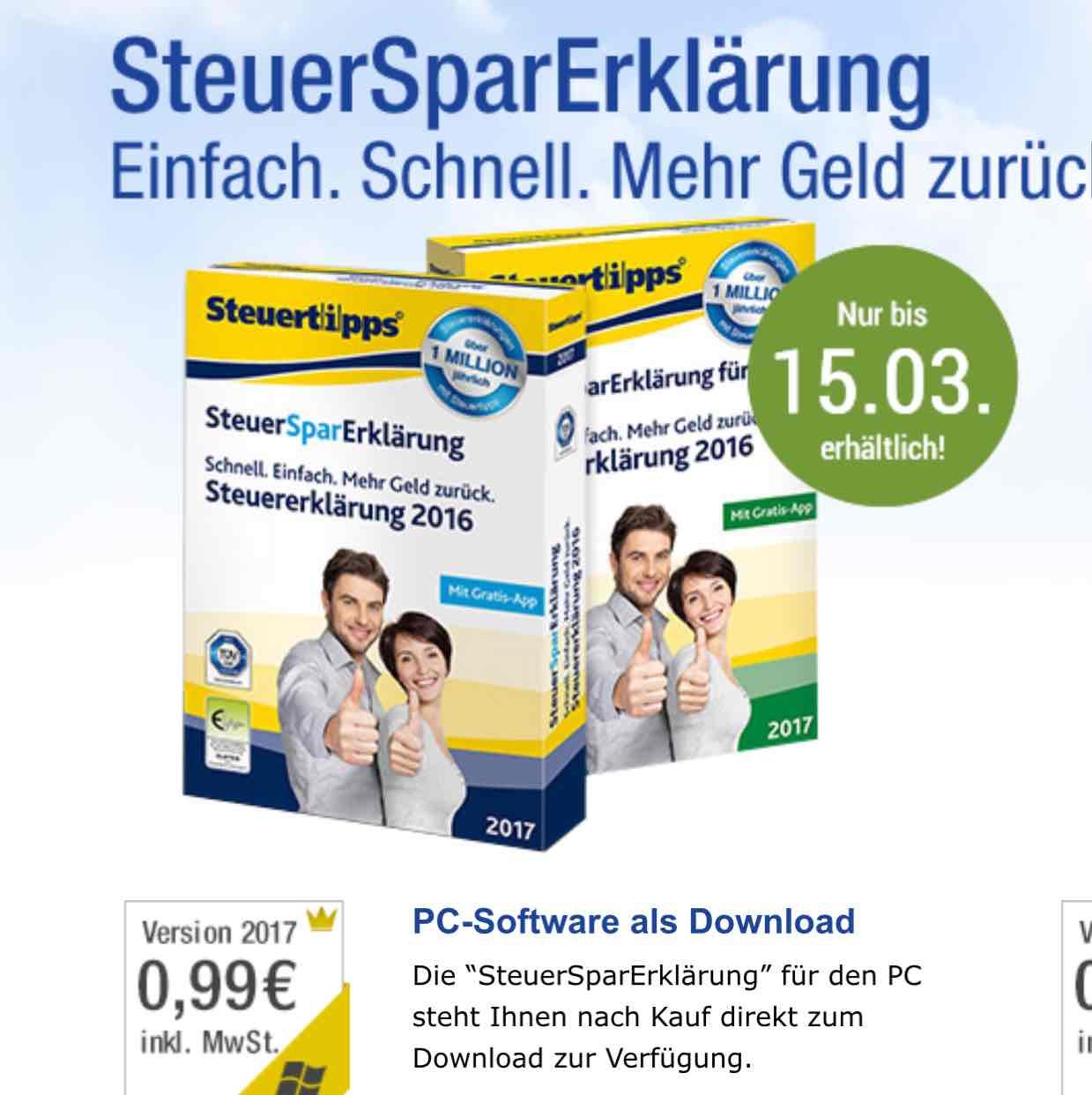 (GMX PREMIUM) 2 Jahre SteuerSparErklärung für 20,89 Euro