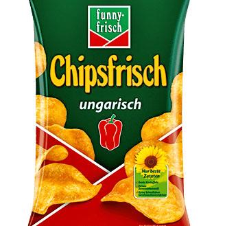 Funny-Frisch Chipsfrisch ungarisch zum BESTPREIS für närrische 49 CENT bei (Kaisers HIT und Wasgau)