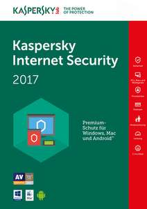 Kaspersky Internet Security 2017 - 3 Lizenzen 12 Monate