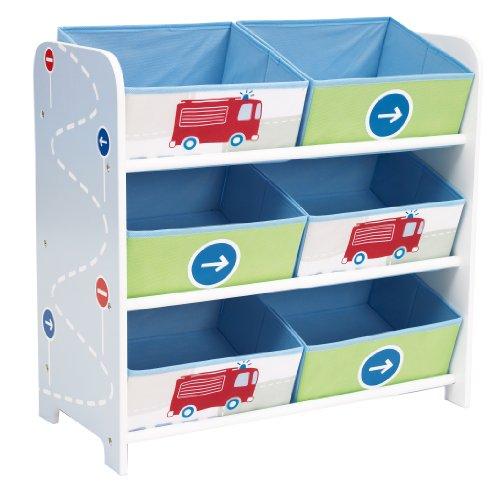 Worlds Apart Kommode mit 6 Aufbewahrungsboxen im Feuerwehr-Design für 27,51€ mit [Amazon Prime]