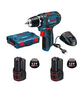 Bosch GSR 12V-15 (GSR 10,8V) + 2 Akkus 2,0 Ah + Schnellladegerät + L-Boxx @ebay Plus