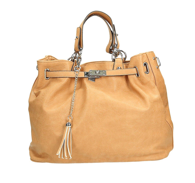 """DECADE Damen Hand Henkel Tasche Venice in """"Sand"""" Farben für 29,95€ @Amazon Blitzdeal"""