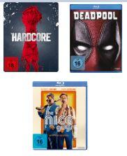 [Mediamarkt/Amazon] Deadpool (Blu-Ray), Hardcore-Steelbook (Blu-Ray) oder Nice Guys (Blu-Ray) ab 7,90€ bei Abholung