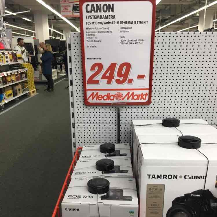 MediaMarkt: Canon EOS M10 Kit EF-M mit 15-45mm