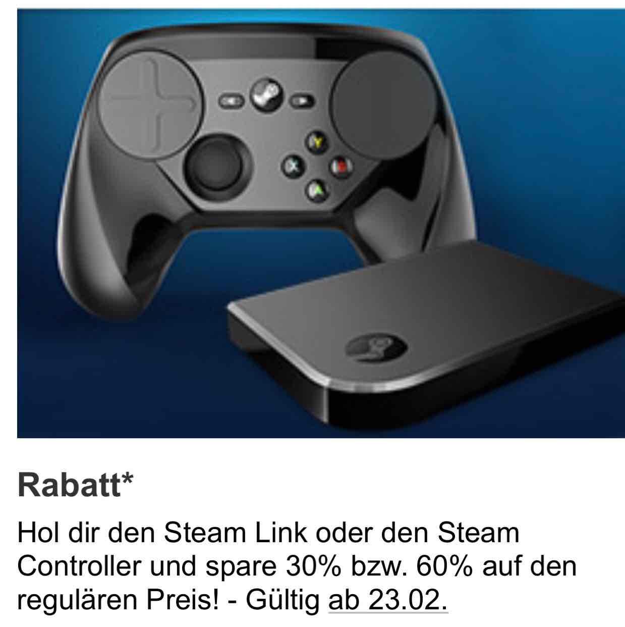 Gamestop ab 23.02 Steam Link für 24€ & Steam Controller für 41,99€ bei Filiale Abholung