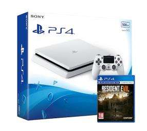 Sony PlayStation 4 Slim 500GB weiß + Resident Evil 7: Biohazard für 275€ (Grainger Games)