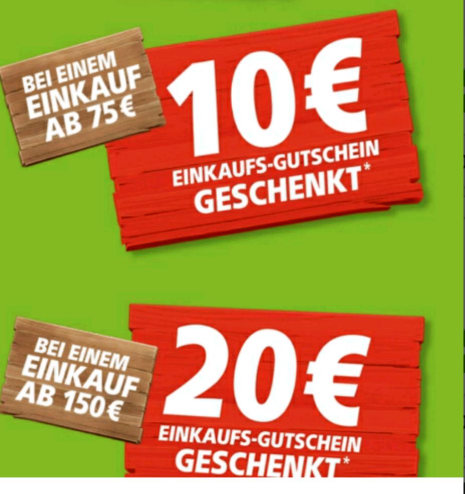 [Real Bundesweit] 10 eur Gutschein bei 75 Eur Einkauf und 20 Eur Gutschein für 150 eur Einkauf am 24.02 und 25.02.17
