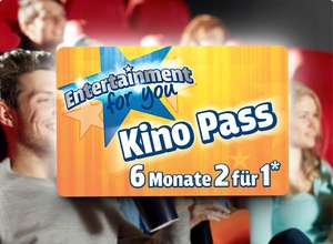 """Ferrero """"Entertainment for you"""" Aktion: Mit dem Ferrero Kino Pass für 6 Monate zwei Kino Karten zum Preis von einem erhalten (sehr viele teilnehmende Kinos)"""
