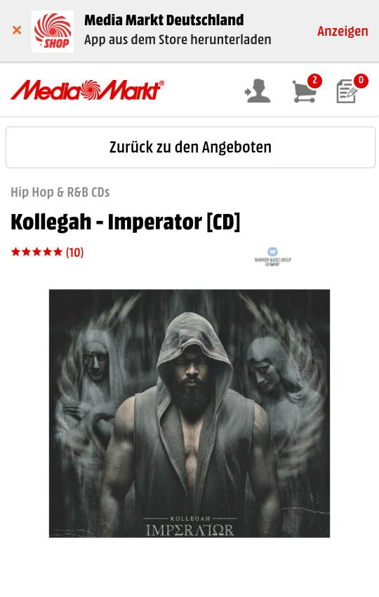 Kollegah - Imperator Hip Hop & R&B CDs - Media Markt