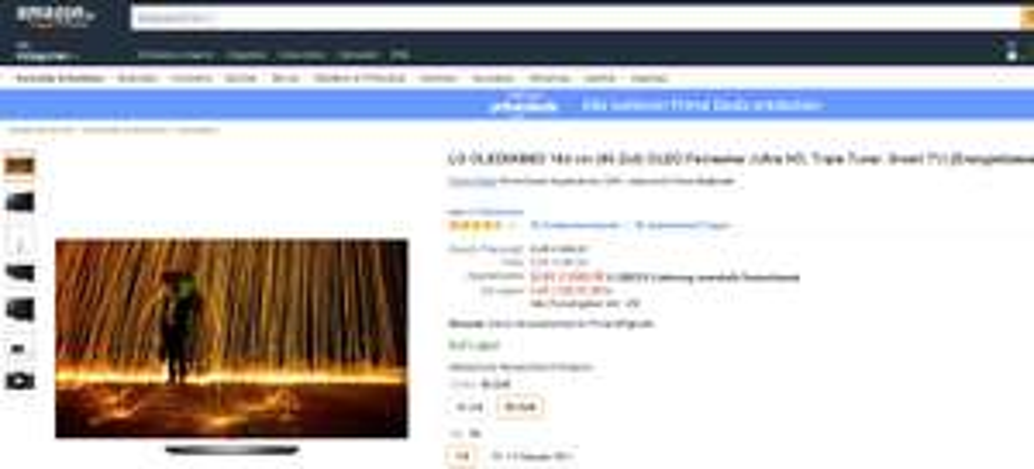 amazon für PRIME-Mitglieder: LG OLED65B6D 164 cm (65 Zoll) OLED Fernseher inkl. Versand PVG idealo: 3.855