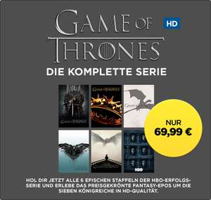 »Game of Thrones« Staffel 1-6 als Digital-Kauf in HD bei Wuaki für 69,99€