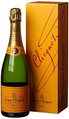 Veuve Clicquot Brut Yellow Label mit Geschenkverpackung (0,75 Liter) [Amazon prime only] - kommt heute noch pünktlich an Weiberfastnacht