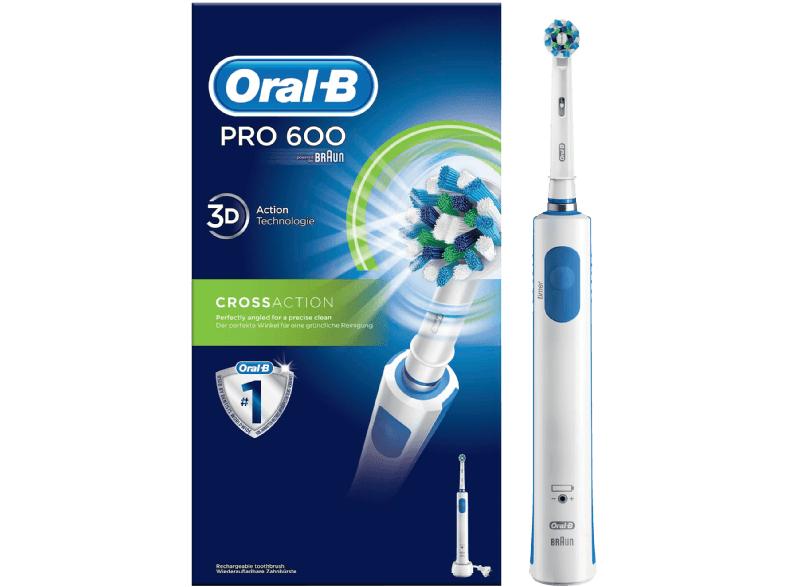 Oral-B Pro 600 CrossAction Elektrische Zahnbürste? für 19,99€ + 28% Cashback (Saturn)