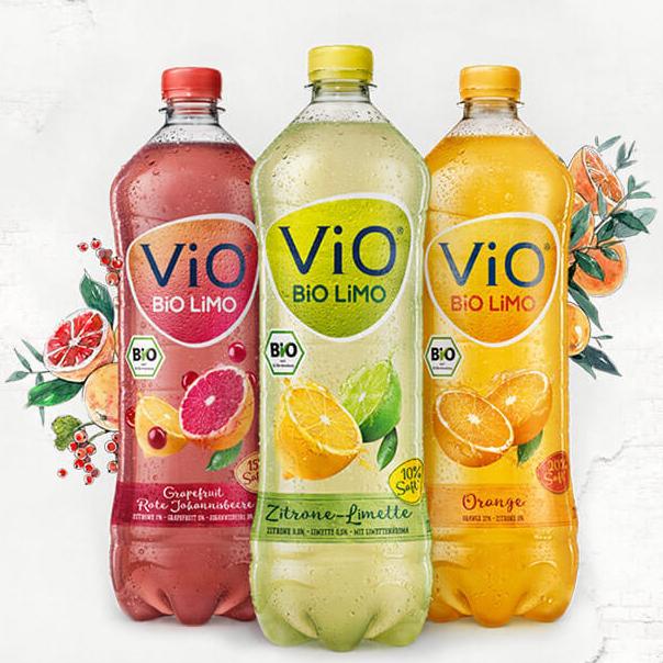 Vio Bio Limo 3 Sorten 1,0l für 0,39€/Flasche bei Thomas Philipps ab 27.02.17 [Tiefstpreis]