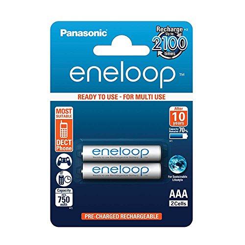 Panasonic Eneloop AAA BK-4MCCE (750mAh, 2100 Ladezyklen) -  2er [4,13€], 4er [6,82€], 8er [12,09€], 10er [14,72€] alle inkl. Versand @amazon