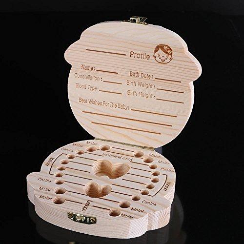 Zahnbox für Milchzähne aus Holz