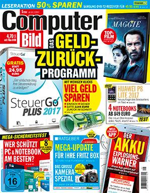 Steuer GO 2017 - 3,70 statt 24,95 - Computer Bild mit DVD kaufen