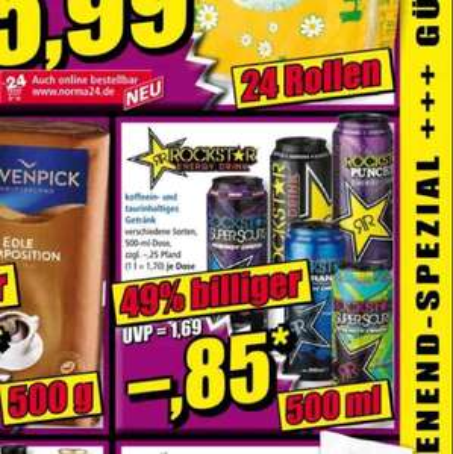 [Norma] Rockstar Energy Drink 0,85€ zzgl. Pfand/ Ab den 3. März (Freitag)
