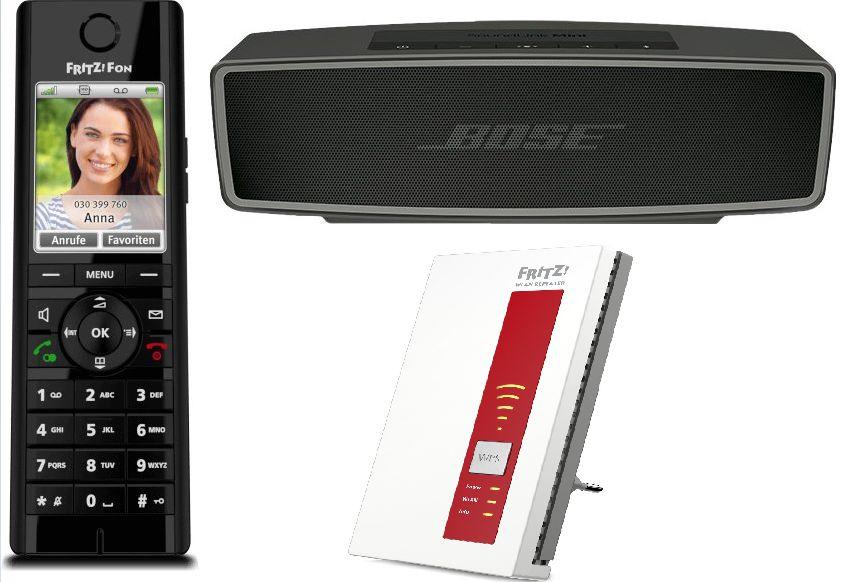 [Alternate/Masterpass] AVM FRITZ!Fon C5 Dect-Schnurlostelefon Babyfon-Funktion Anrufbeantworter (Schwarz) für 45,24€ Versandkostenfrei+++Soundlink Mini II für 131,39€+++AVM FRITZ!WLAN Repeater 1160 für 42,24€