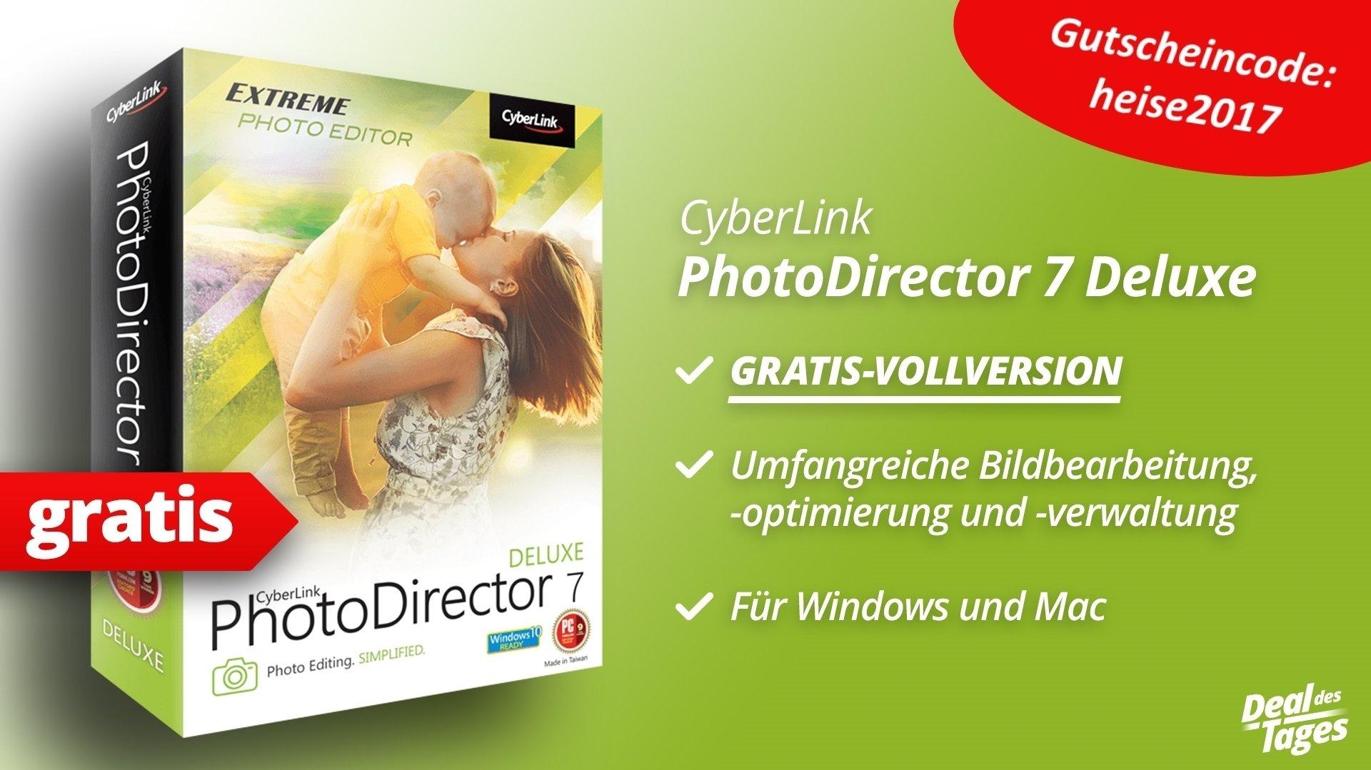 Heute im Angebot: Gratis-Vollversion von PhotoDirector 7 Deluxe