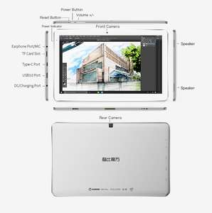 "(Gearbest) Cube Mix+ : 10"" Windows Tablet mit Core-M und Wacom Digitizer"