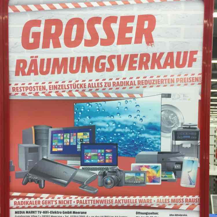 Räumungsverkauf Media Markt Meerane - Bose
