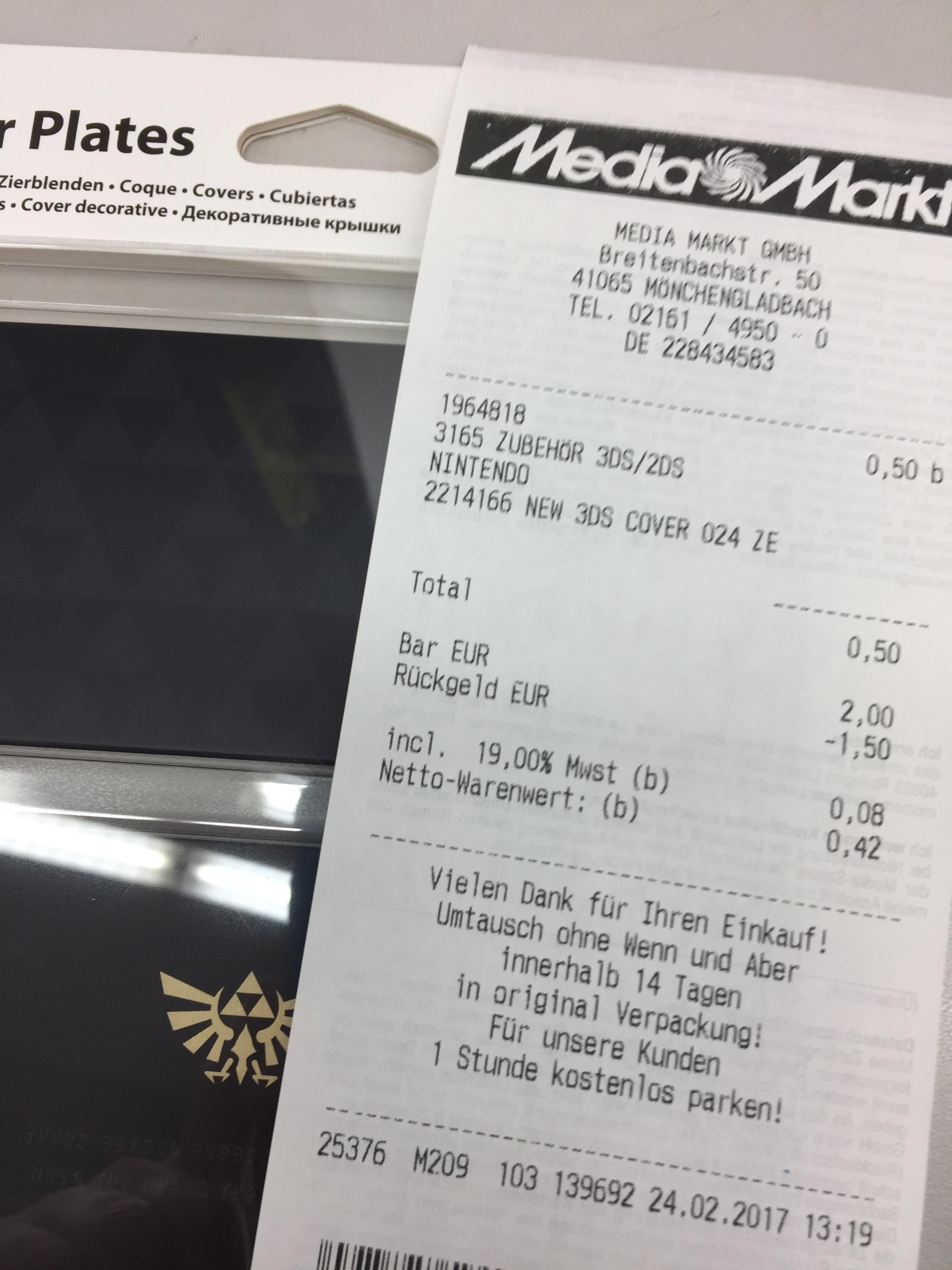(Lokal Media Markt Mönchengladbach) New 3DS Zelda Faceplates