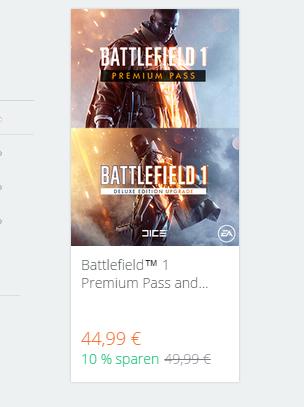 [Alternate-Masterpass-Origin ]Battlefield™ 1 Premium Pass and Deluxe Upgrade Bundle