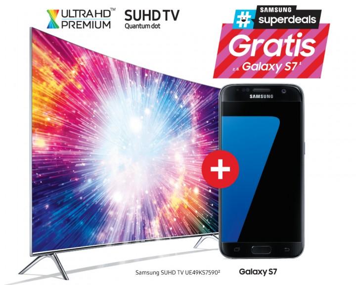 Samsung 49KS7590 999,- inkl. Samsung S7 Saturn Reutlingen