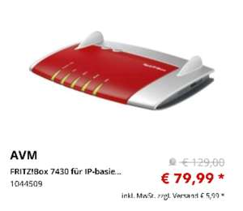 FRITZ!Box 7430 MediMax offline (Versand 5.99)
