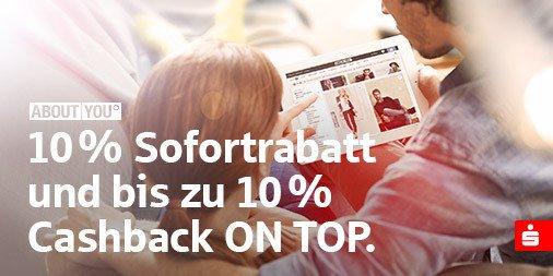 10% Sofortrabatt bei AboutYou als Sparkassenkunde + weitere 5%-10% (50€ MBW)