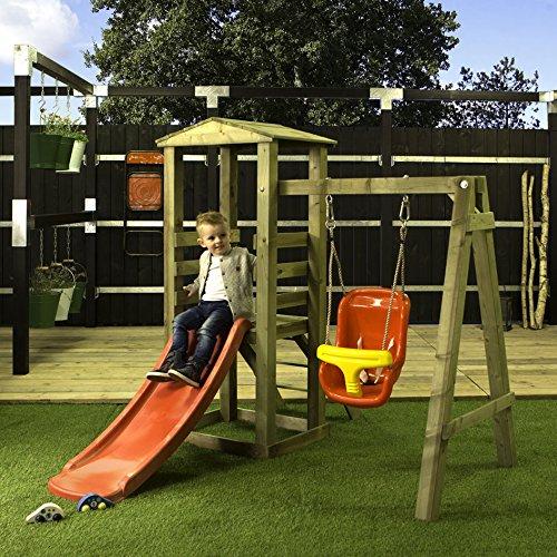 Amazon Blitzangebote - Woodinis-Spielplatz - Baby Spielturm aus Holz