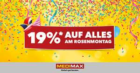 (Lokal Ruhr) MEDIMAX Dortmund, Bochum, Mülheim 19% - 20% Rabatt