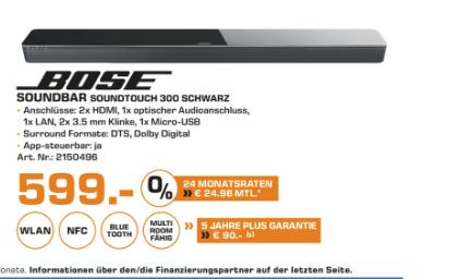 (Lokal) Bose Soundtouch 300 599,- /Saturn Bochum/Hattingen nur Heute.