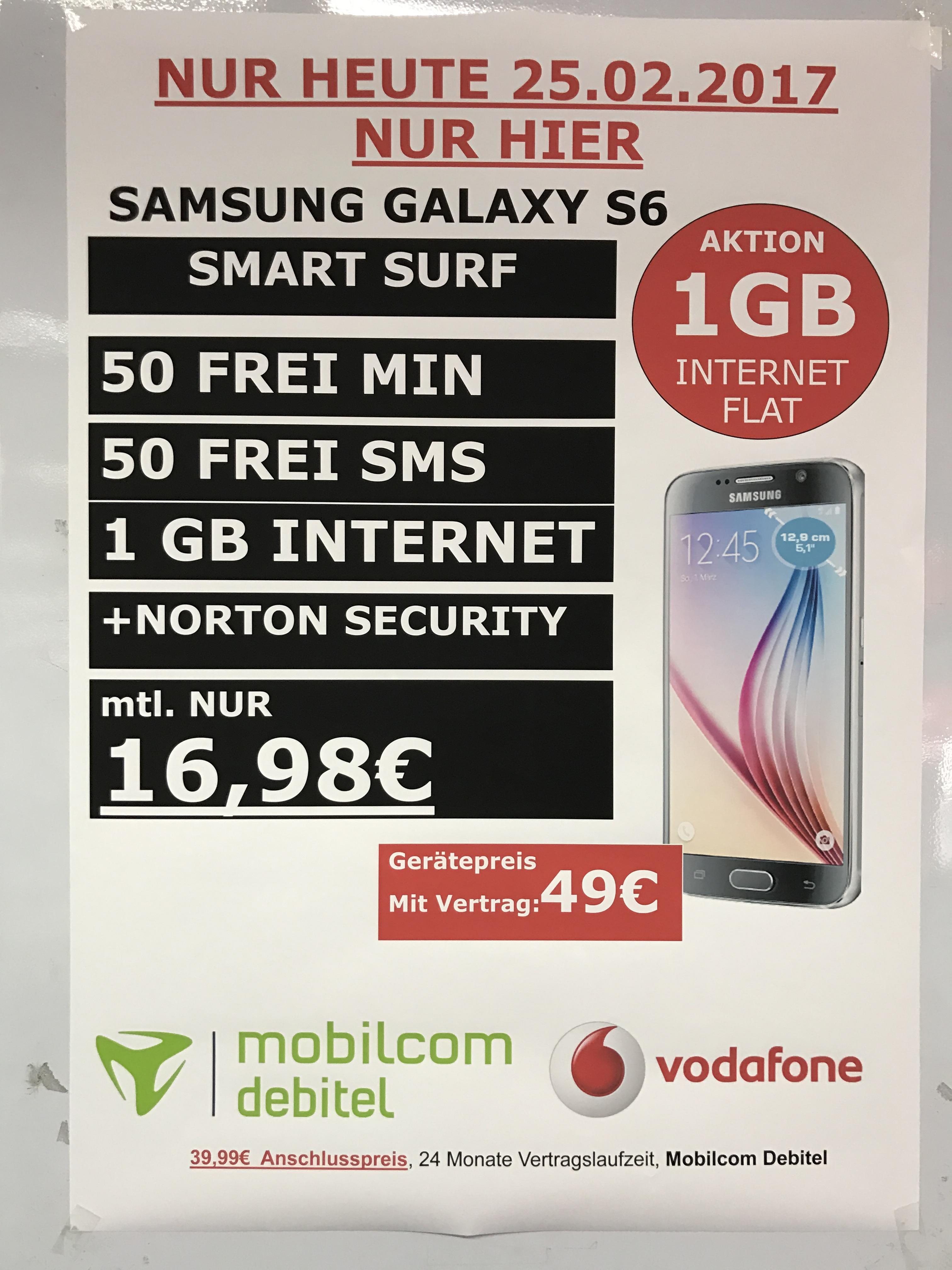 Samsung Galaxy S6 im Tarif Saturn Heidelberg