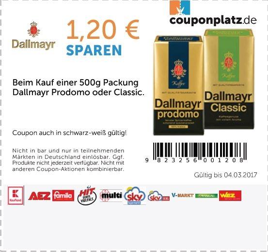 [Sky] Dallmayr Prodomo 500g für 3,24€