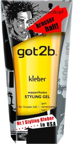 got2b Kleber Wasserfestes Styling Gel 6er Pack (6 x 150 ml) als Prime-Mitglied einmalige Lieferung für 9,54€ (Amazon)
