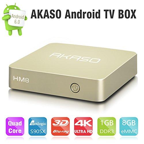 AKASO HM8 Android 6.0 TV Box 1GB DDR3 8GB EMMC [Amazon Prime]  wieder verfügbar