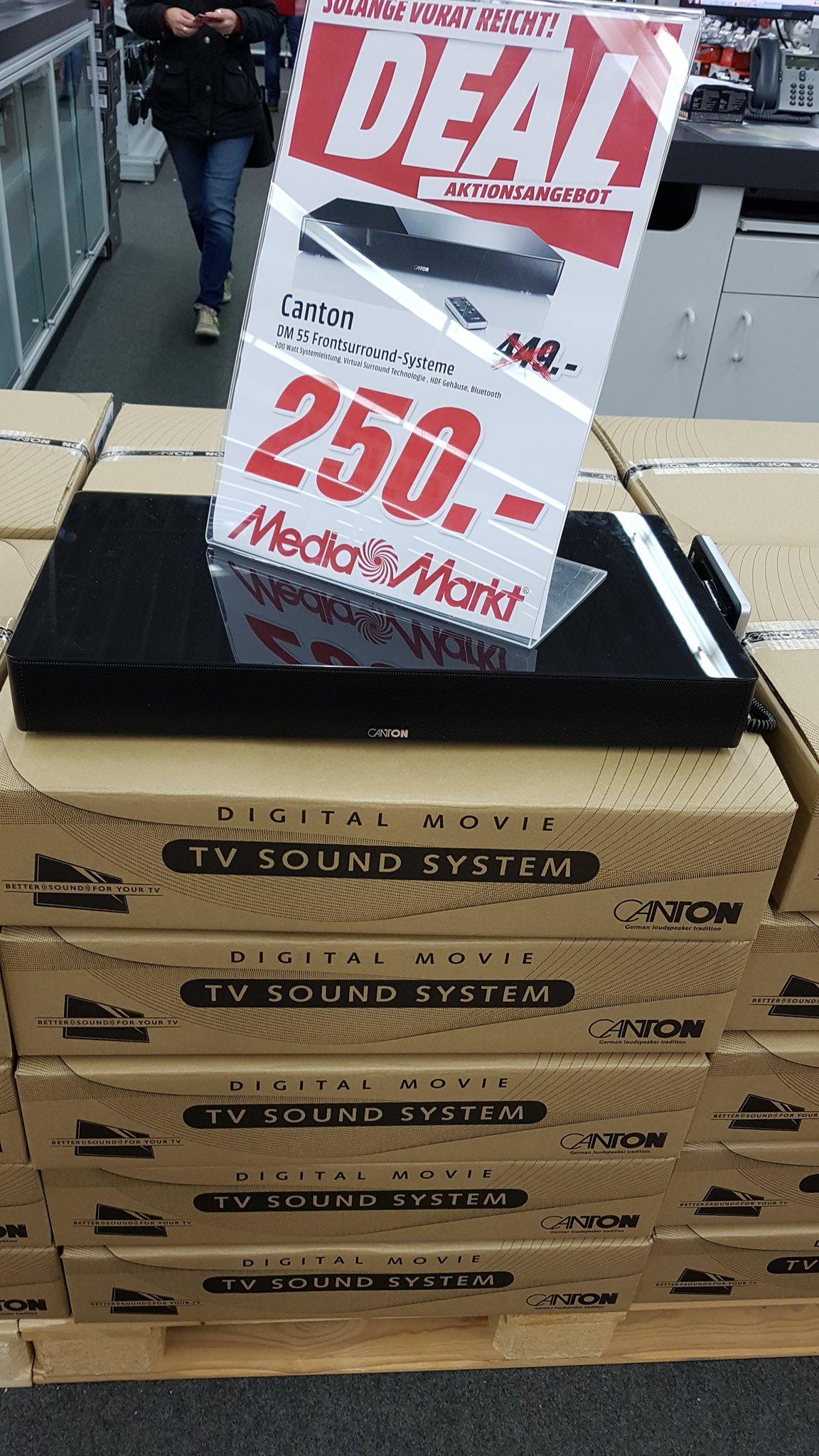 [Mediamarkt Porta-Bundesweit Kostenloser Versand] Canton Lautsprecher 55 Surround System 2.1 schwarz für 250,-€