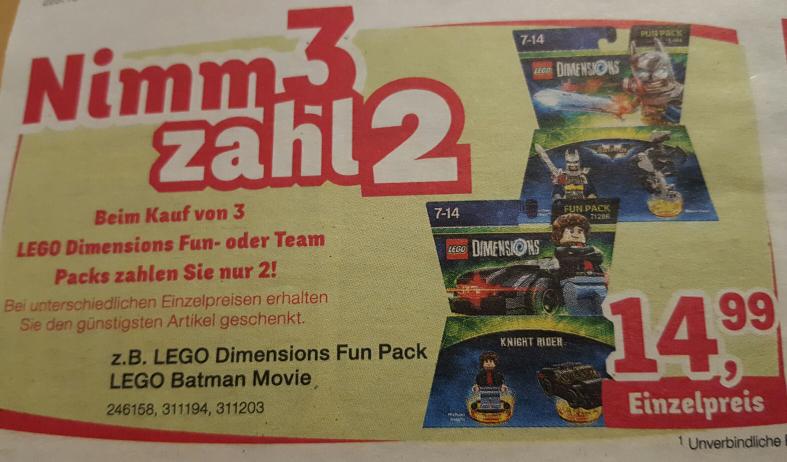 [ab 01.03.] Lego Dimensions Fun / Team Pack 3für2 Aktion ToysRus