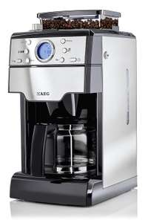 Amazon WHD - AEG Kaffeemaschine (1000 Watt, mit integriertem Mahlwerk) edelstahl