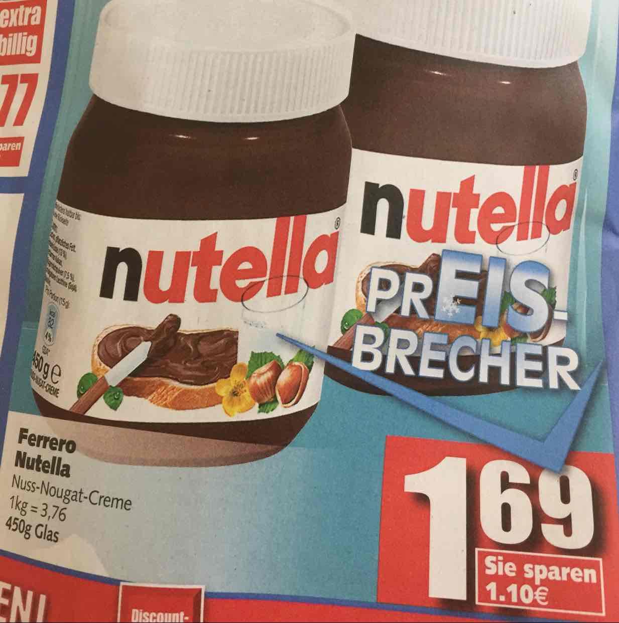 Nutella 450g für 1,69€ [Edeka]