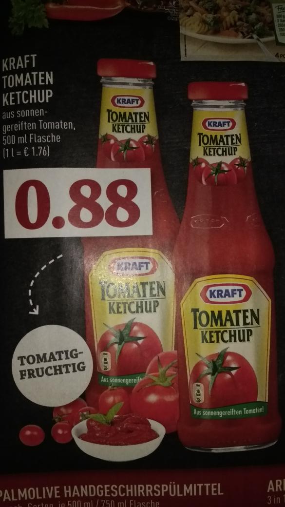 Kraft Tomatenketchup 500ml bei Kaiser's Tengelmann und trinkgut für 0,88€